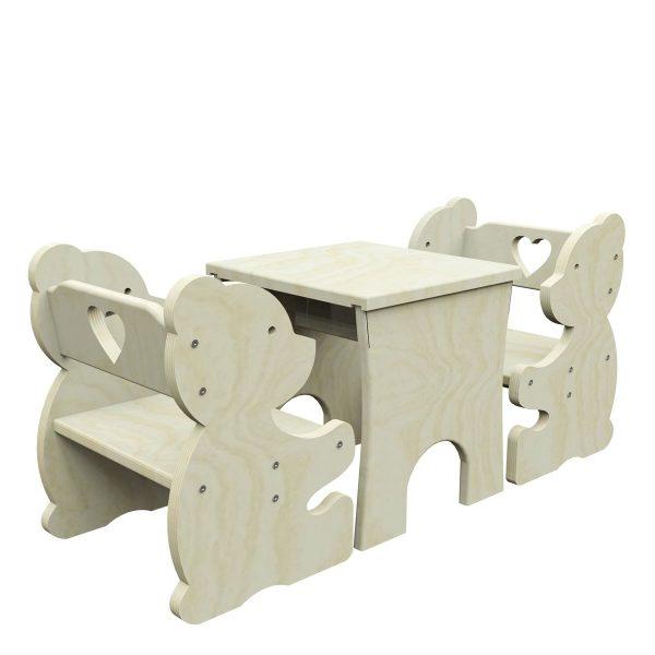 Stoliczek z krzesełkami MIŚ - Meblusie.pl